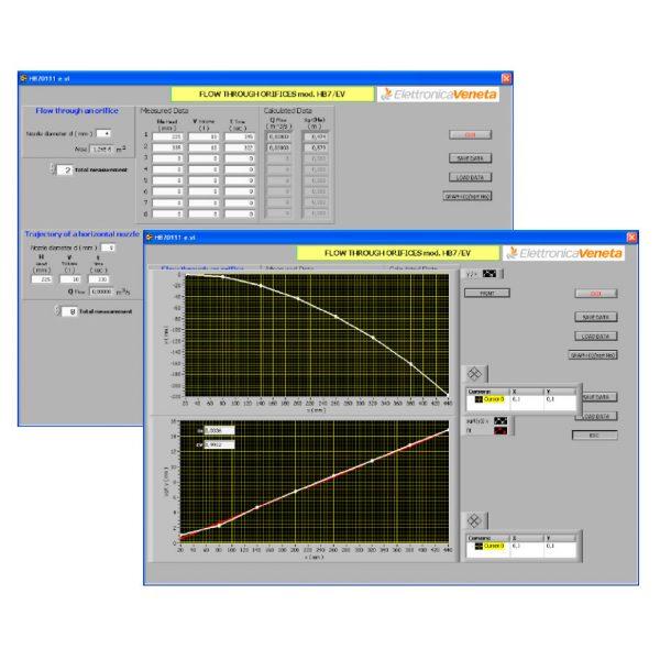 Software per mod. HB7/EV - Efflusso da orifizi