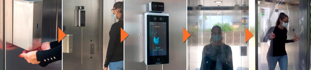 Come funziona la cabina di sanificazione di Elettronica Veneta